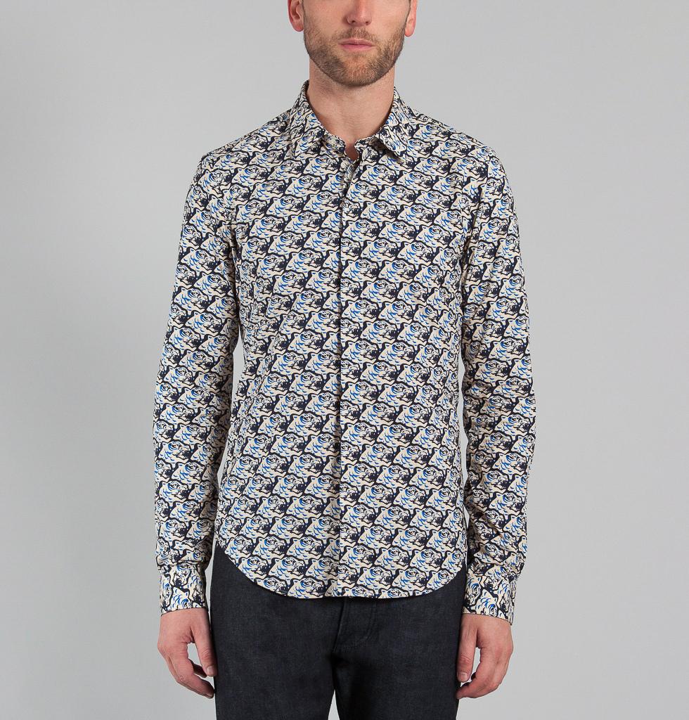 chemise kenzo homme la tendance fleurs. Black Bedroom Furniture Sets. Home Design Ideas