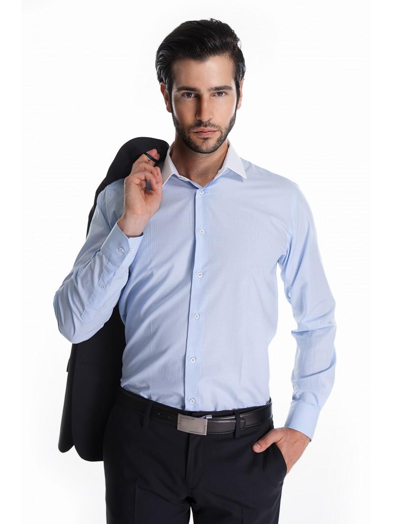 chemise bleu ciel pour mon costume bleu marine. Black Bedroom Furniture Sets. Home Design Ideas